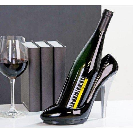 Porte bouteilles pumps talon aiguille for Decoration porte noire