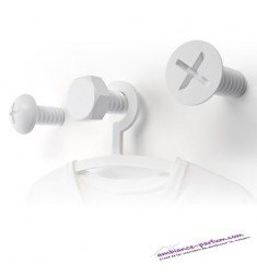 Set de 3 Patères Design Vis Screw - Blanc