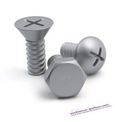 Set de 3 Patères Design Vis Screw - Silver