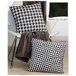 Coussin Géométrique Noir & Blanc