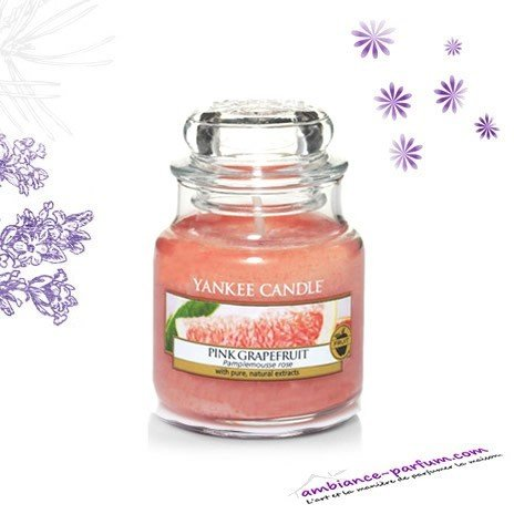 bougie yankee candle pink grapefruit. Black Bedroom Furniture Sets. Home Design Ideas