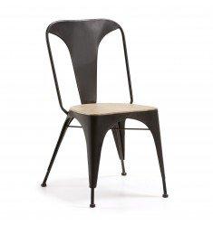 Chaise métal graphite VITA