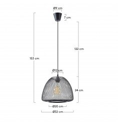 Lampe suspension métal noir DESIRE
