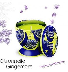 Bougie parfumée Luxe - Citronnelle Gingembre