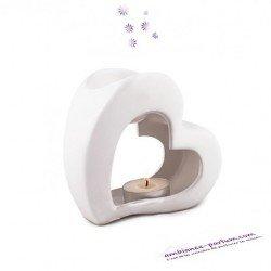 White Heart Ceramic Burner