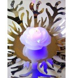 """Bougie Cire LED Fleur """"Rose"""""""